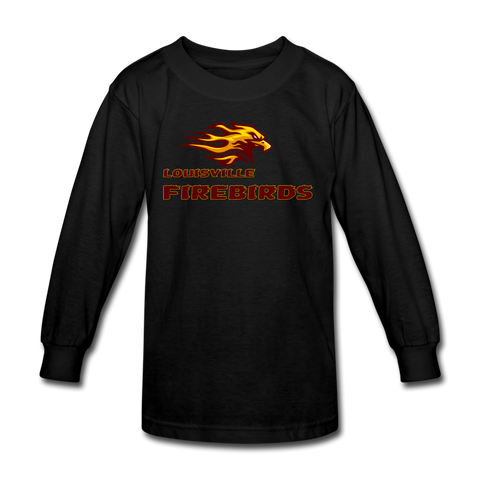 LOUISVILLE FIREBIRDS KID'S LONG SLEEVE TEE - black