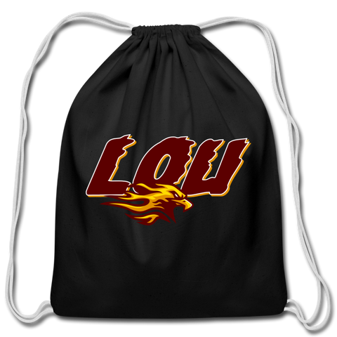 LOUISVILLE FIREBIRDS COTTON DRAWSTRING BAG - black