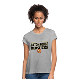 BATON ROUGE REDSTICKS WOMEN'S RELAXED TEE - heather gray