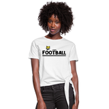 ATLANTA WILDCATS WOMEN'S KNOTTED TEE - white