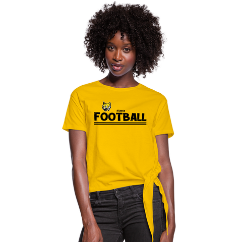 ATLANTA WILDCATS WOMEN'S KNOTTED TEE - sun yellow