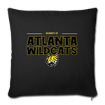 ATLANTA WILDCATS THROW PILLOW COVER - black