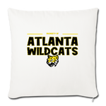 ATLANTA WILDCATS THROW PILLOW COVER - natural white