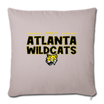 ATLANTA WILDCATS THROW PILLOW COVER - light taupe