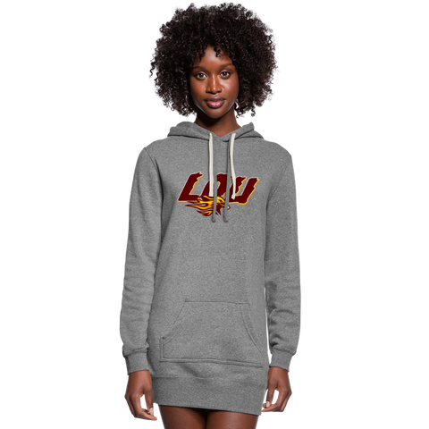 LOUISVILLE FIREBIRDS SPECIALTY WOMEN'S HOODIE DRESS - heather gray