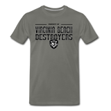 VIRGINIA BEACH DESTROYERS MEN'S PREMIUM TEE - asphalt gray