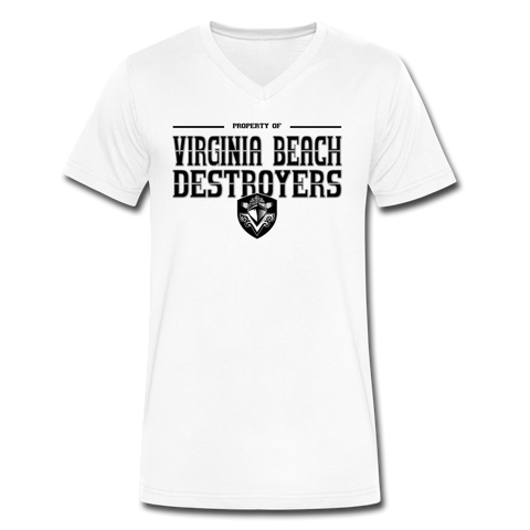VIRGINIA BEACH DESTROYERS MEN'S V-NECK TEE - white