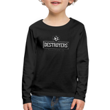 VIRGINIA BEACH DESTROYERS KID'S PREMIUM LONG SLEEVE SWEATER - black