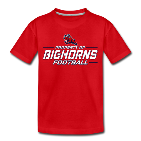 HOUSTON BIGHORNS KID'S PREMIUM TEE - red