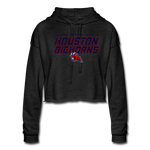 HOUSTON BIGHORNS WOMEN'S CROPPED HOODIE - deep heather