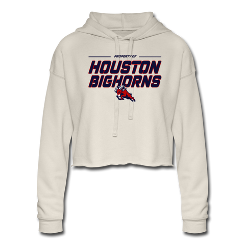 HOUSTON BIGHORNS WOMEN'S CROPPED HOODIE - dust