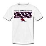 HOUSTON BIGHORNS KID'S PREMIUM TEE - white