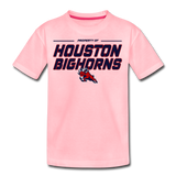 HOUSTON BIGHORNS KID'S PREMIUM TEE - pink