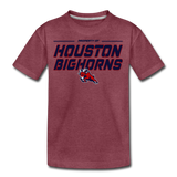 HOUSTON BIGHORNS KID'S PREMIUM TEE - heather burgundy