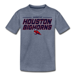 HOUSTON BIGHORNS KID'S PREMIUM TEE - heather blue