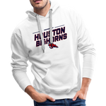 HOUSTON BIGHORNS MEN'S PREMIUM HOODIE - white