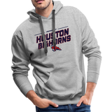 HOUSTON BIGHORNS MEN'S PREMIUM HOODIE - heather gray