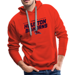 HOUSTON BIGHORNS MEN'S PREMIUM HOODIE - red