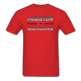 HOUSTON BIGHORNS UNISEX TEE - red