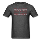 HOUSTON BIGHORNS UNISEX TEE - heather black