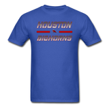 HOUSTON BIGHORNS UNISEX TEE - royal blue