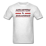 HOUSTON BIGHORNS UNISEX TEE - light heather gray