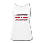 HOUSTON BIGHORNS WOMEN'S PREMIUM TANK - white