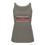 HOUSTON BIGHORNS WOMEN'S PREMIUM TANK - asphalt gray