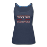 HOUSTON BIGHORNS WOMEN'S PREMIUM TANK - navy