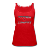 HOUSTON BIGHORNS WOMEN'S PREMIUM TANK - red