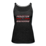 HOUSTON BIGHORNS WOMEN'S PREMIUM TANK - charcoal gray