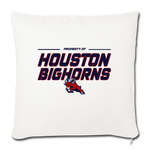 HOUSTON BIGHORNS THROW PILLOW COVER - natural white