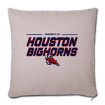 HOUSTON BIGHORNS THROW PILLOW COVER - light taupe