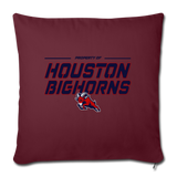 HOUSTON BIGHORNS THROW PILLOW COVER - burgundy
