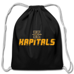 KANSAS CITY KAPITALS COTTON DRAWSTRING BAG - black
