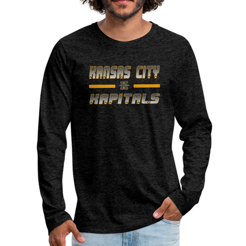KANSAS CITY KAPITALS MEN'S PREMIUM LONG SLEEVE TEE - charcoal gray
