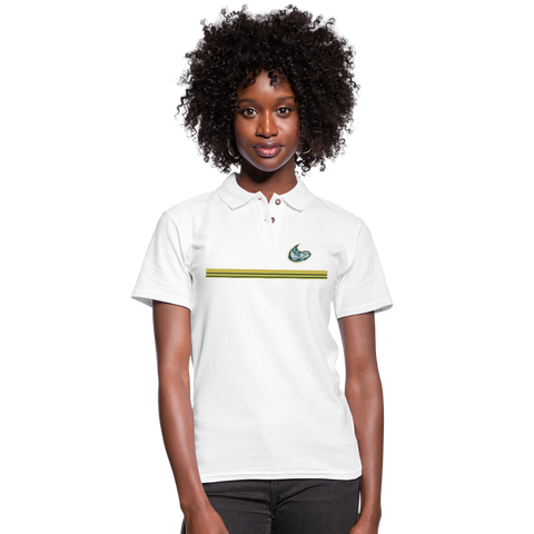 MISSISSIPPI MUDCATS WOMEN'S PIQUE POLO - white