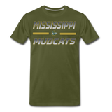MISSISSIPPI MUDCATS MEN'S PREMIUM TEE - olive green