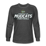 MISSISSIPPI MUDCATS MEN'S LONG SLEEVE TEE - heather black