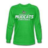 MISSISSIPPI MUDCATS MEN'S LONG SLEEVE TEE - bright green