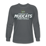 MISSISSIPPI MUDCATS MEN'S LONG SLEEVE TEE - charcoal