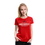 VIRGINIA IRON HORSES WOMEN'S PREMIUM TEE - red