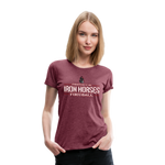 VIRGINIA IRON HORSES WOMEN'S PREMIUM TEE - heather burgundy