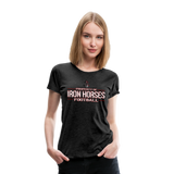 VIRGINIA IRON HORSES WOMEN'S PREMIUM TEE - charcoal gray