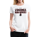 VIRGINIA IRON HORSES WOMEN'S PREMIUM TEE - white