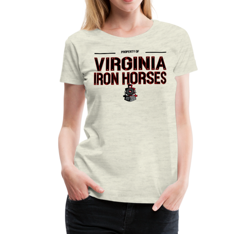 VIRGINIA IRON HORSES WOMEN'S PREMIUM TEE - heather oatmeal