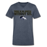ST LOUIS STAMPEDE SPECIALTY MEN'S V-NECK TEE - heather navy