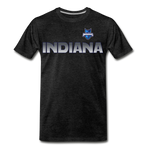 INDIANA BLUE BOMBERS MEN'S PREMIUM TEE - charcoal gray
