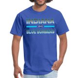 INDIANA BLUE BOMBERS UNISEX TEE - royal blue