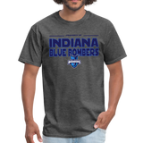 INDIANA BLUE BOMBERS UNISEX TEE - heather black
